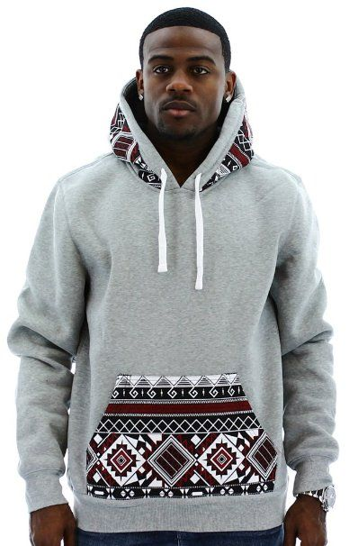 0e05c35c647 Amazon.com: Escapism Men's Hoodie Aztec Print Hooded Sweatshirt: Clothing
