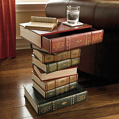 Table Of Books Accent Table Book Furniture Book Decor