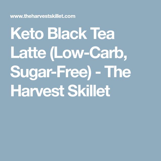 Keto Black Tea Latte (Low-Carb, Sugar-Free)