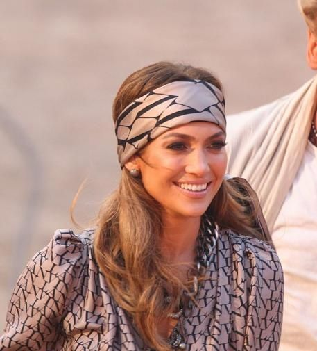 Image result for jennifer lopez in blue with scarf