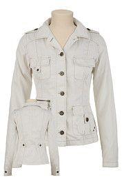 Ladies Twill Military Jacket