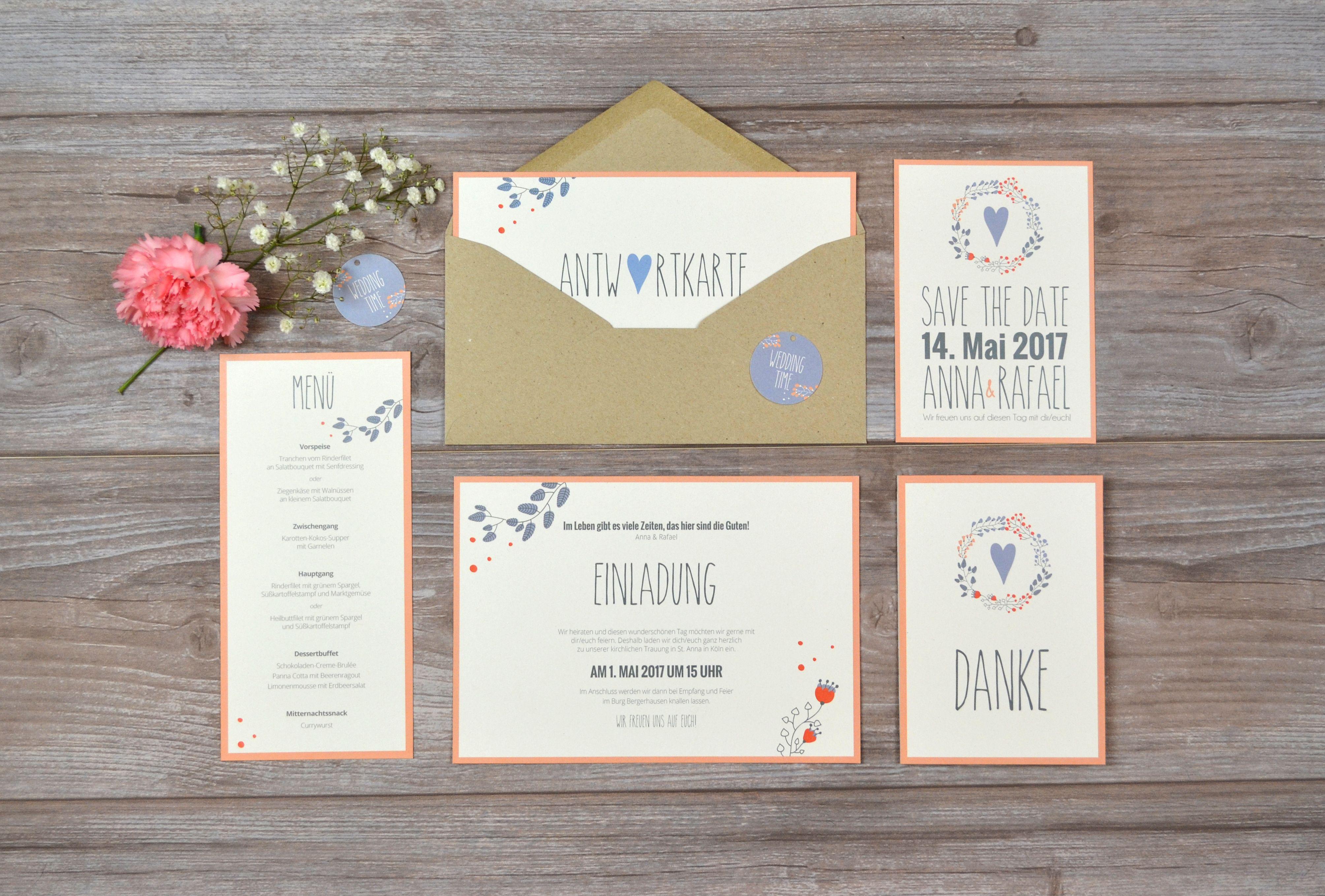 Hochzeitseinladungen naturpapier kraftpapier for Hochzeitseinladungen vintage mit spitze