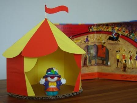 Atelier diy chapiteau cirque miniatures - Dessin d un chapiteau de cirque ...