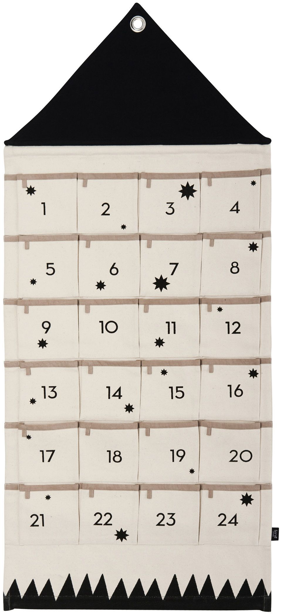 Calendrier de l'avent House Ferm Living - Noir/Beige | Made In Design