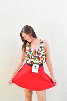 943d86bdbd3 50+ Easy Halloween Costumes For Adults  DIY A Gumball Machine Costume
