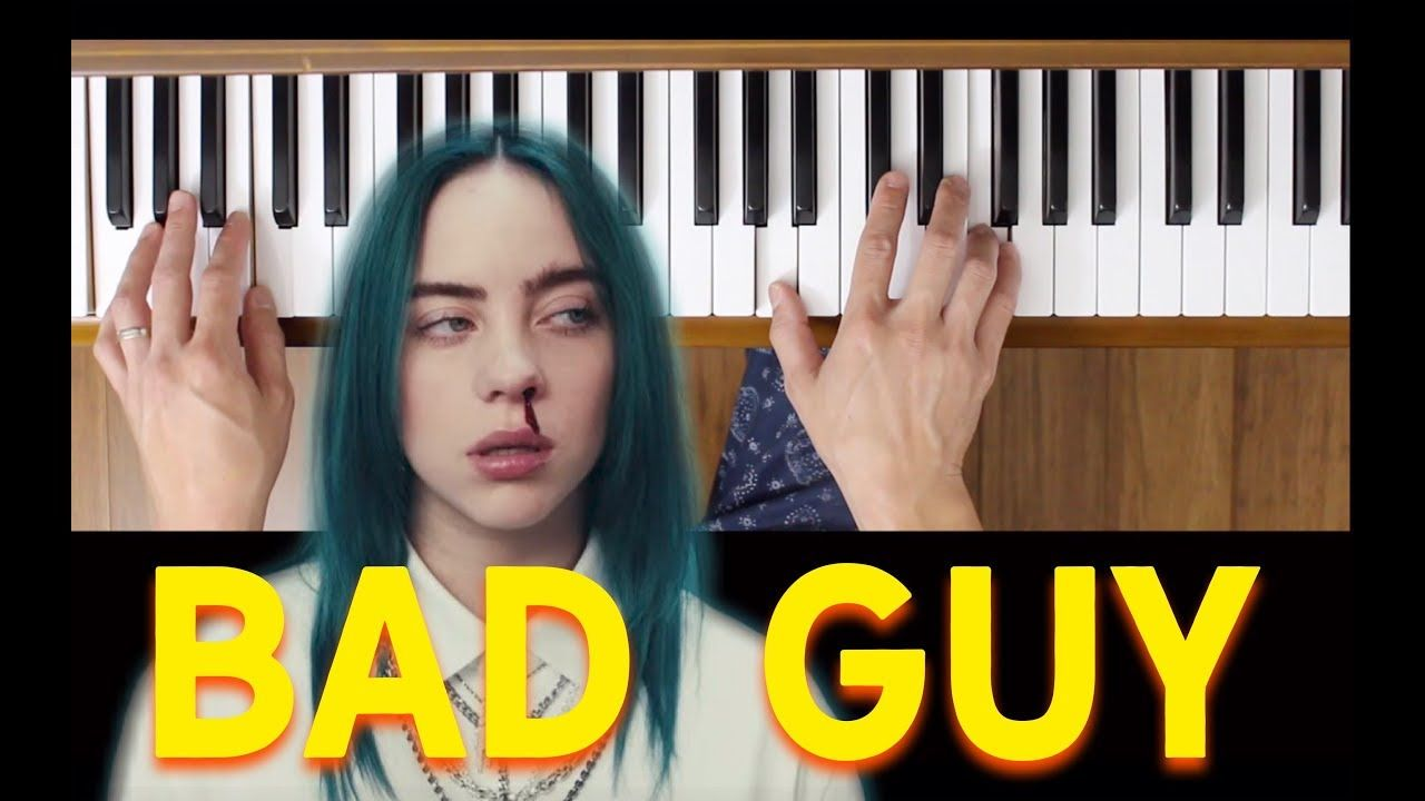 Bad Guy Billie Eilish Intermediate Piano Tutorial With Images