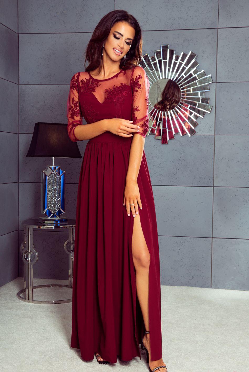 79f8ba54f6 Długa sukienka wieczorowa w dużym rozmiarze na wesele