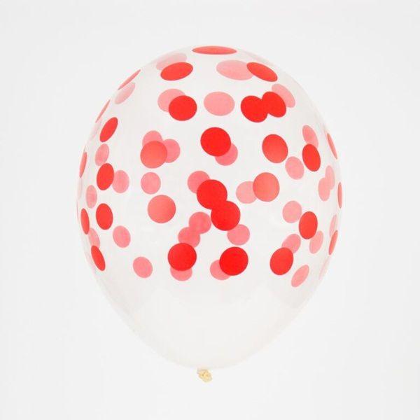 globos-transparentes-lunares- rojo de venta en http://shop.fiestascoquetas.com