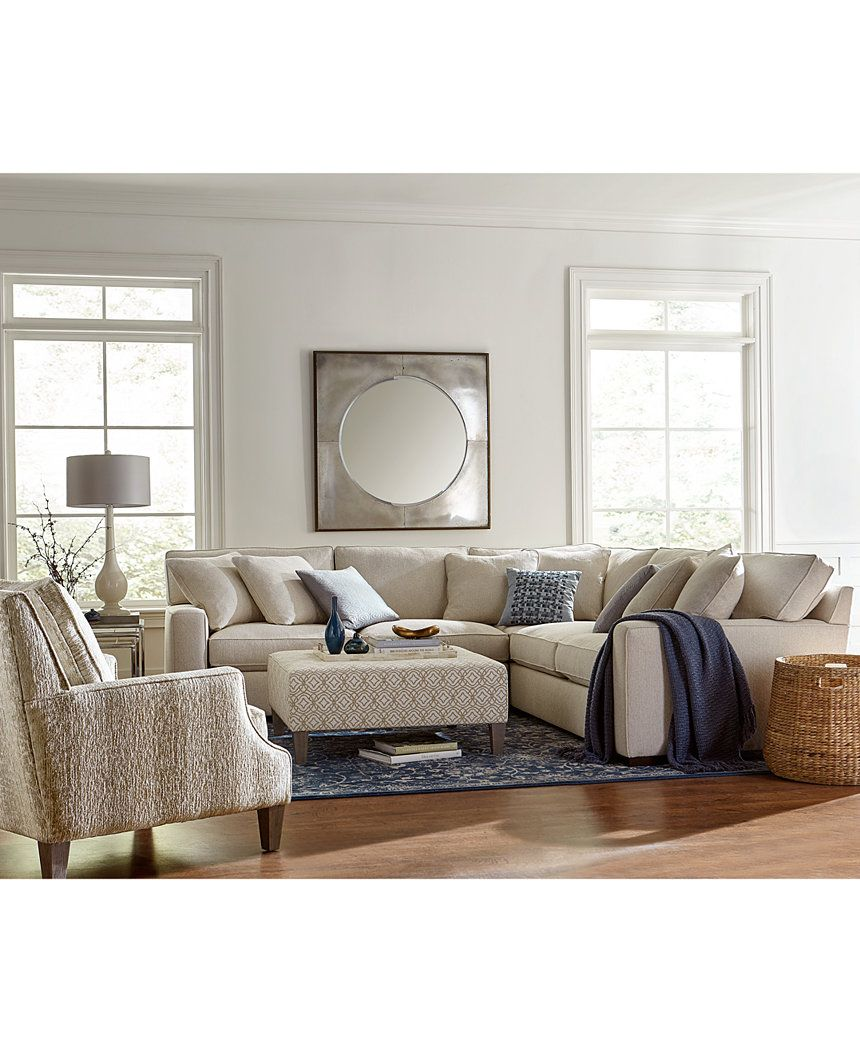 Apartment Sectional Kelly Ripa Ampton 3 Pc Apartment Sectional With Wedge Only At