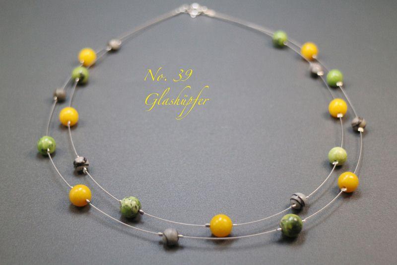 ♥ No.39 ♥ Kette - Jade, Chita, Picassojaspis von Glashüpfer auf DaWanda.com