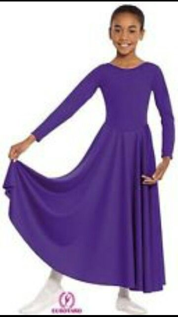 076364afb77 Purple Girls Praise Dance Dress