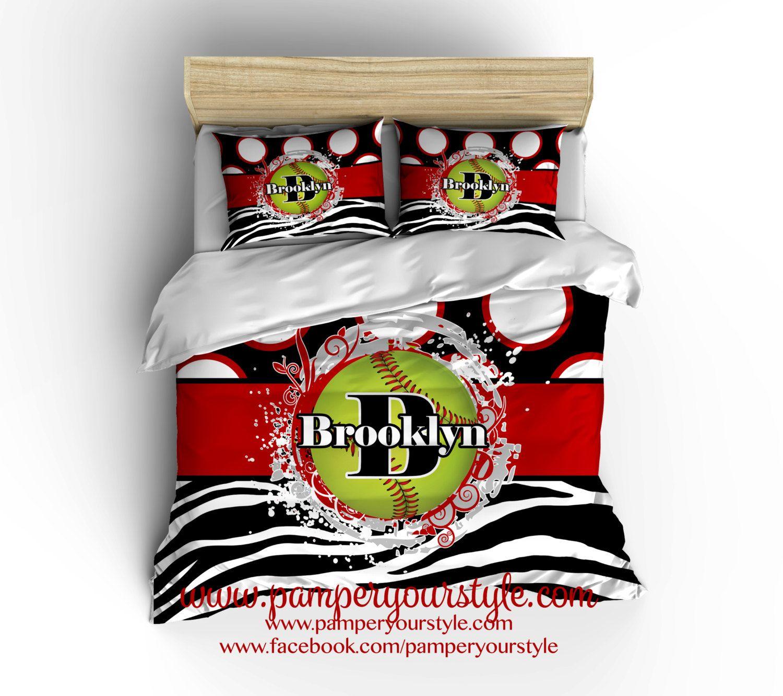 softball bedroom red and black softball bedding comforter softball