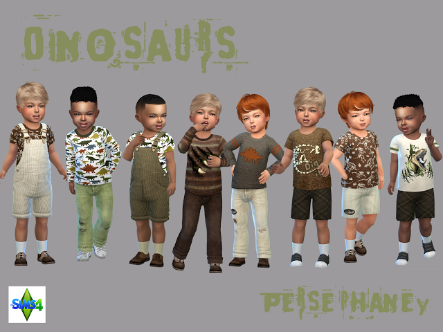 Sims 4 CC's - The Best: Dinosaur clothes for toddler boys by Persephaney