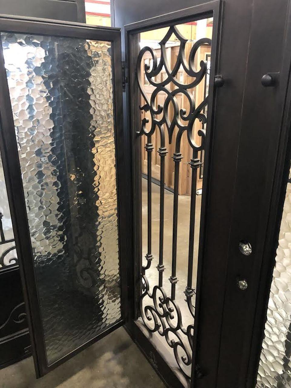 6 0 X6 8 Carmen Exterior Double Wrought Iron Door Wrought Iron Doors Iron Doors Iron Front Door
