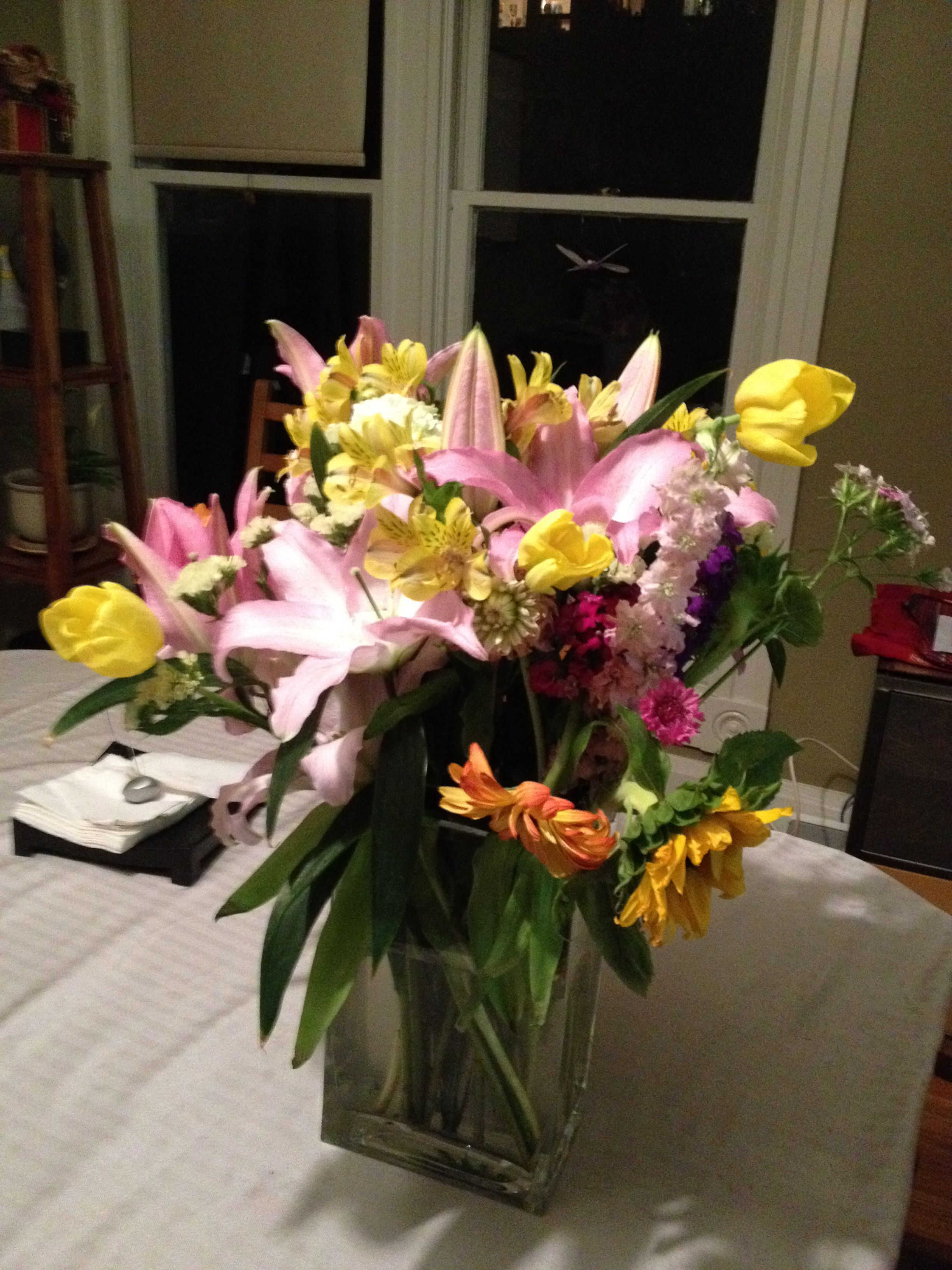 Flowers for my birthday lasted a long time! Birthday