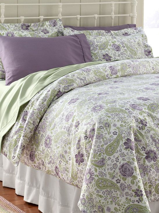 Wrinkle Resistant Comforter Cover Floral Free Shipping At L L Bean Comforter Cover Home Lavender Bedding