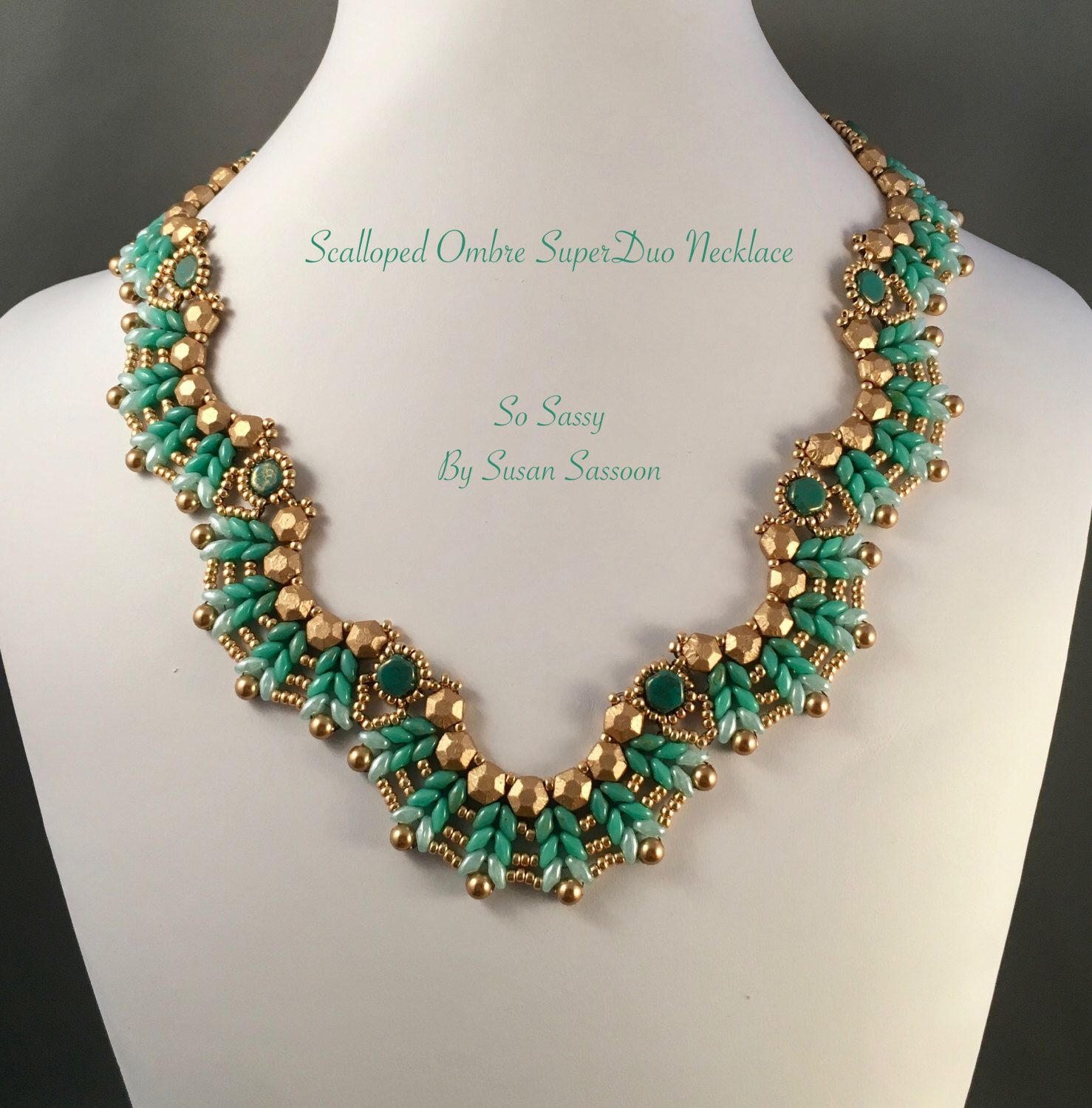 Ombre Scalloped SuperDuo Necklace Tutorial | Ombre, Etsy and ...