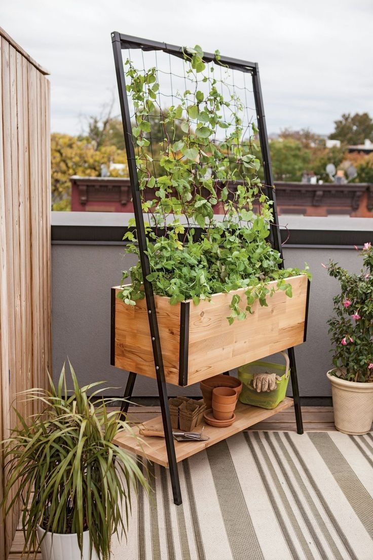 interior:Raised Garden Apartment Balcony Luxury Cedar Planter Box Flower Boxes Canada Railing #apartmentbalconygarden