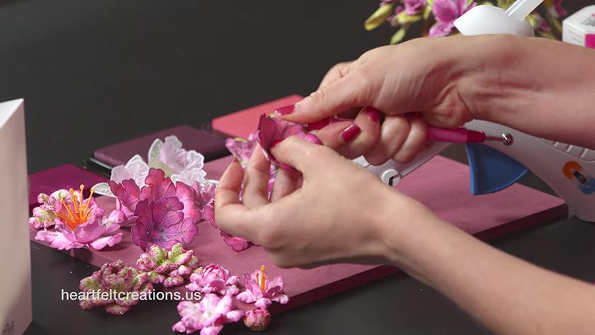 Basics of flowershaping: how to papercraft a Petunia - Heartfelt Creations