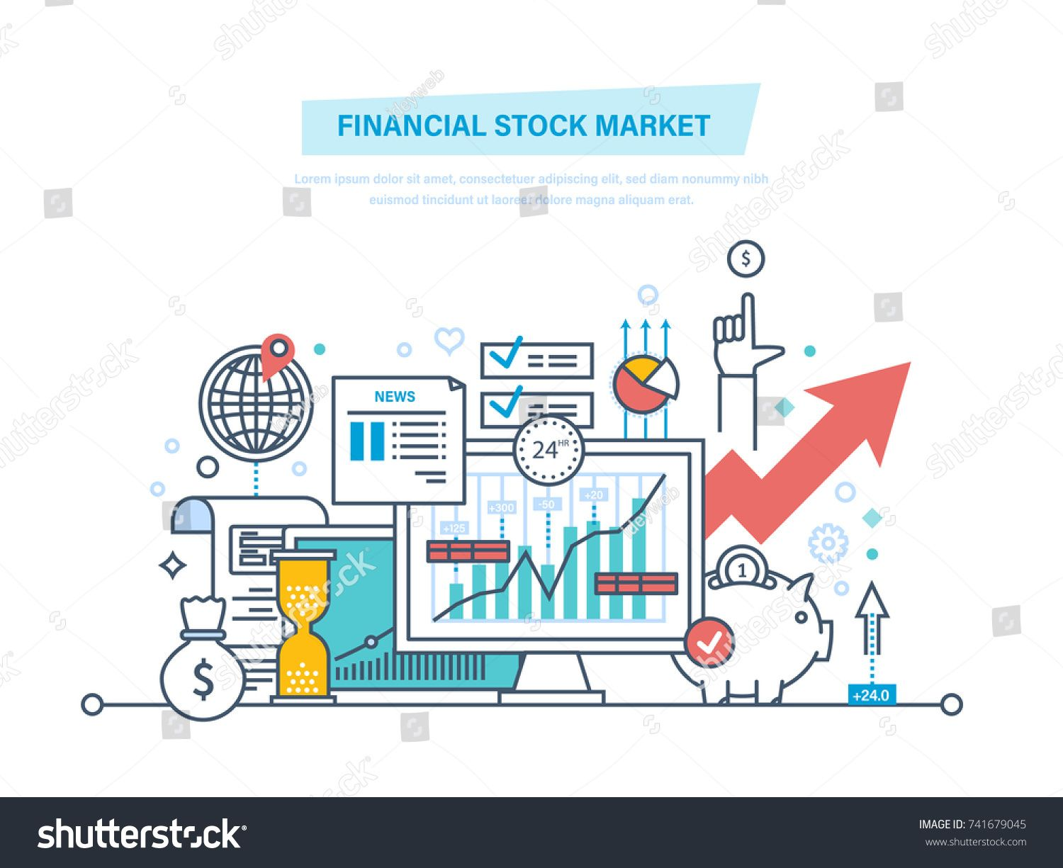 Financial Stock Market Capital Markets Trading E Commerce Investments Finance Growth Of Economic Indicators S Stock Market Capital Market Budget Planner