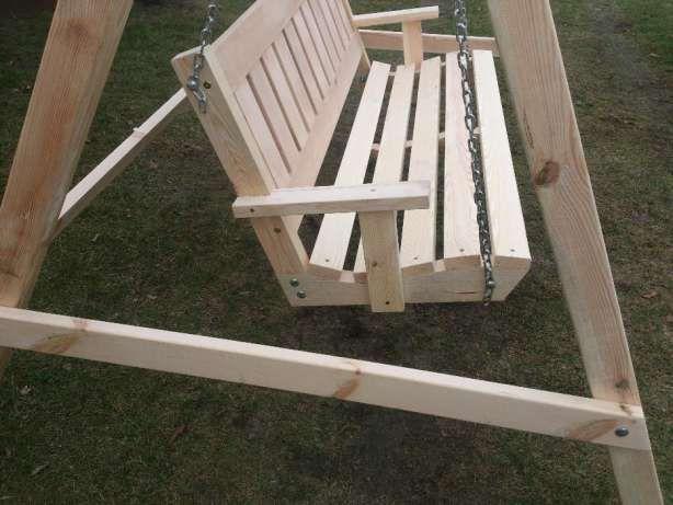Hustawka Ogrodowa Drewniana Lezajsk Image 3 Outdoor Furniture Porch Swing Outdoor Decor