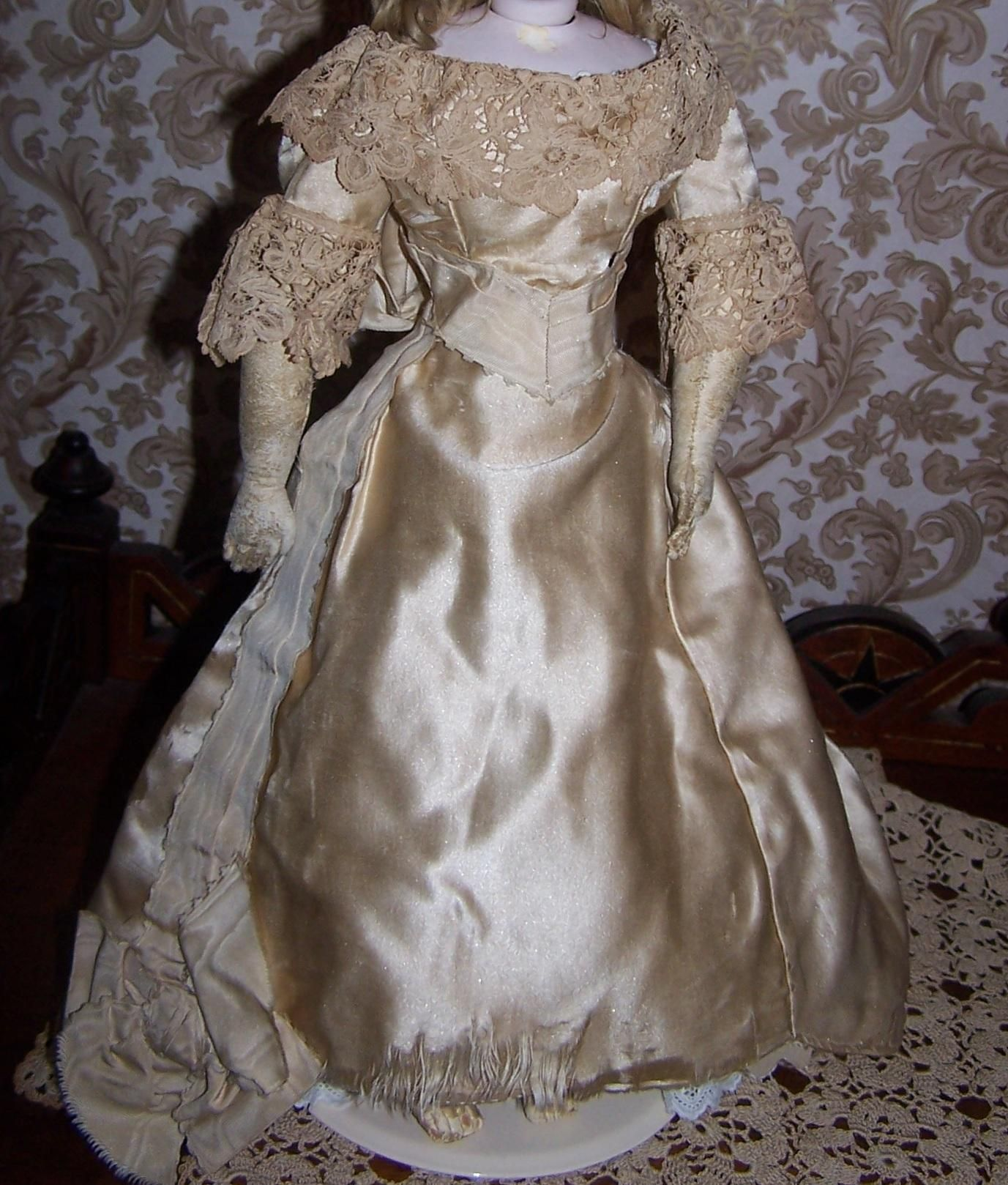 Spectacular Original Antique Wedding Dress For German Or French