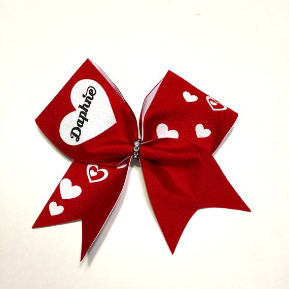 "3"" Cheer Bow Valentine Day Personalized"