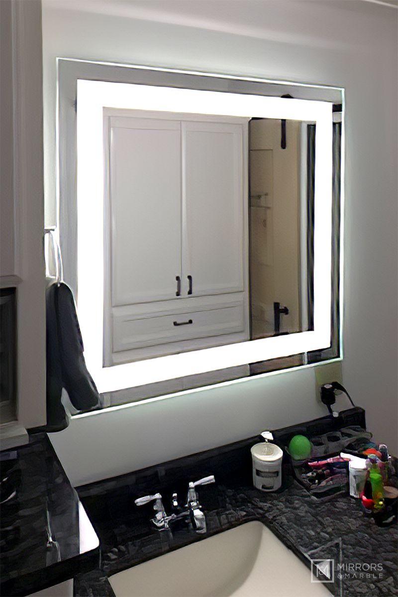 Pin On Led Backlit Rectangular Vanity Mirrors