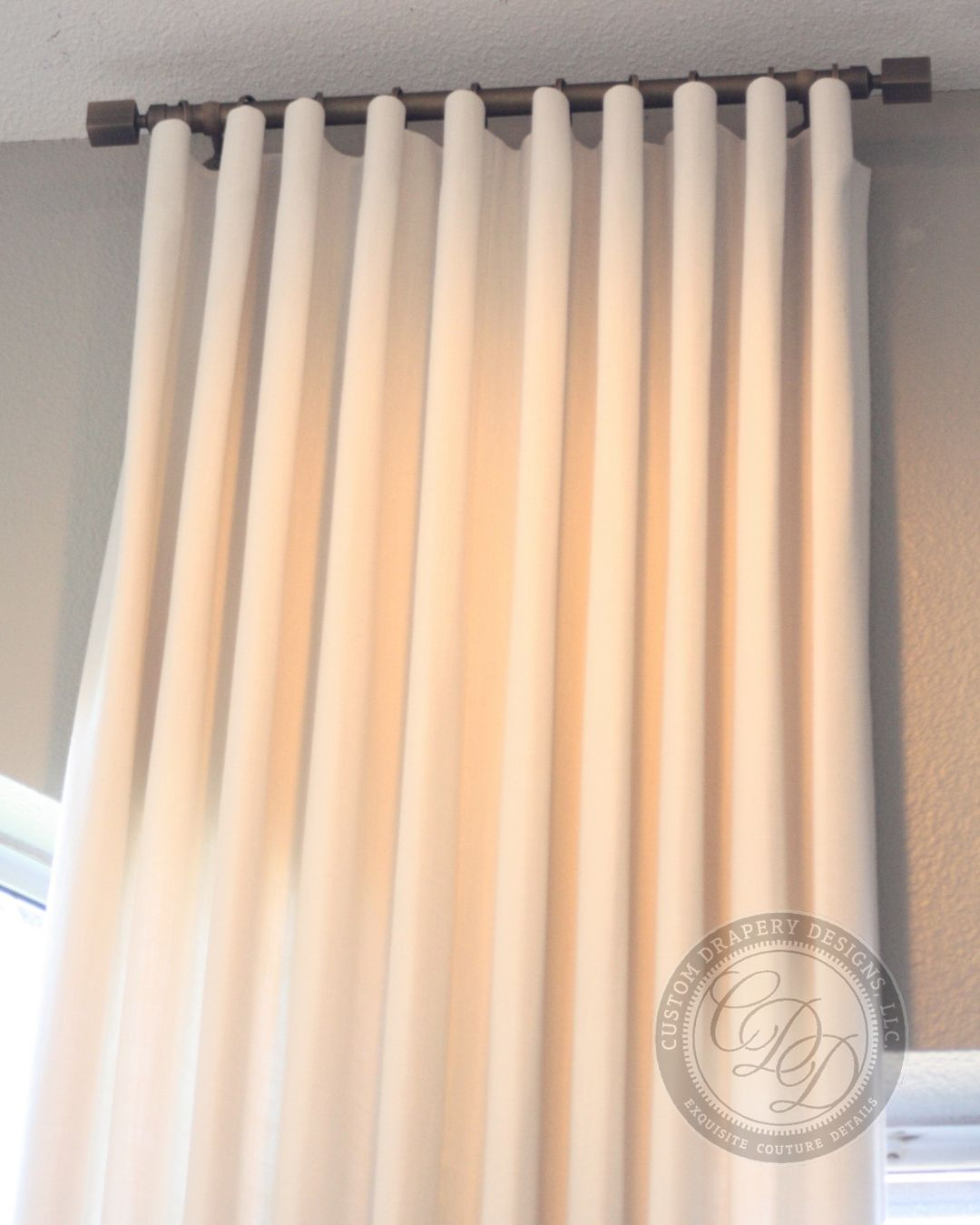 Cartridge Pleat Design Paired With Modern Sleek Brushed Brass