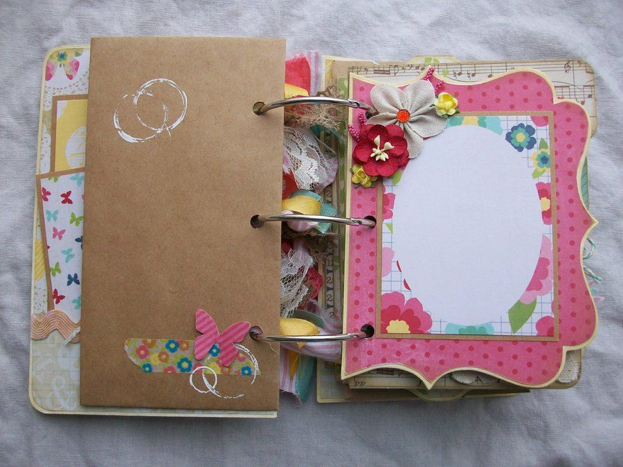 Chipboard Album Ocbrandy TPHH Premade Photo Scrapbook Shabby 5x7 Kraft | eBay