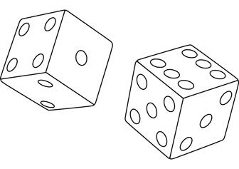 Dice Drawing Page Dice Tattoo Free Coloring Pages Custom Tattoo Design