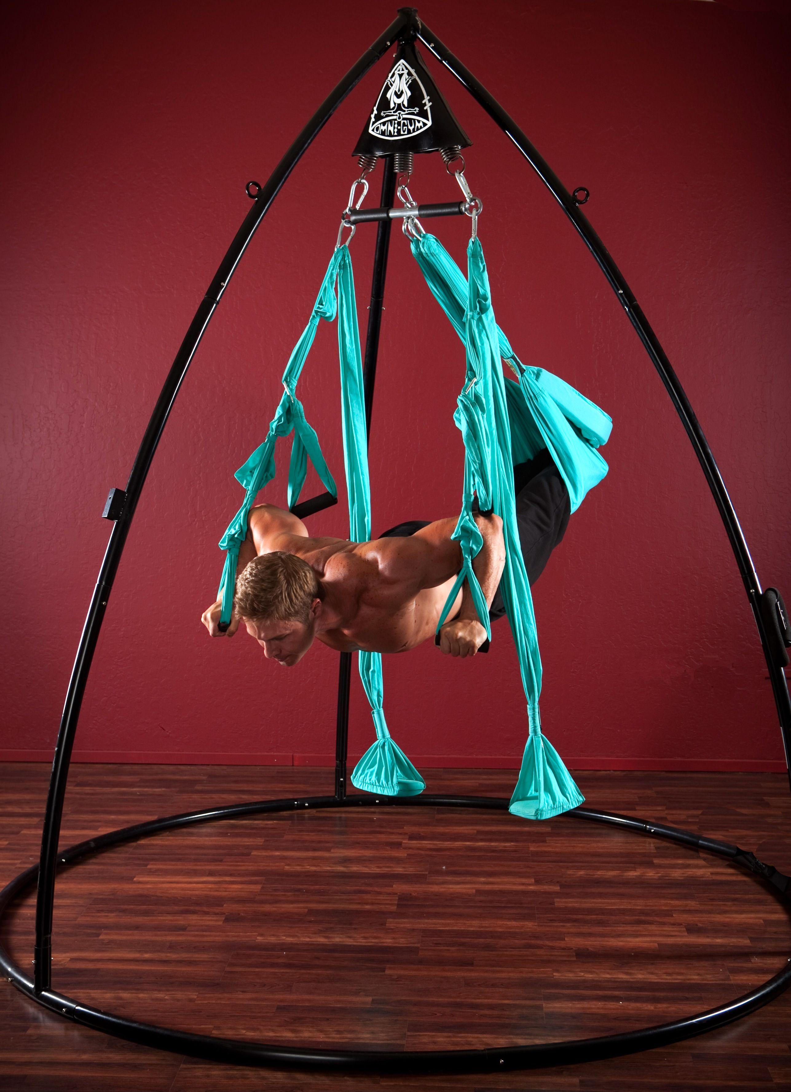 Sling Pushups. Yoga Swing oh ya!