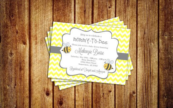 Bumble Bee MothertoBee Baby Shower by PrettyPaperGoods365 on Etsy, $12.00