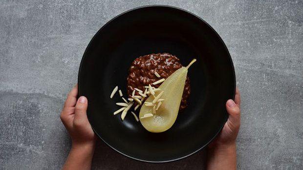 Čokoládové rizoto s hruškou Foto:
