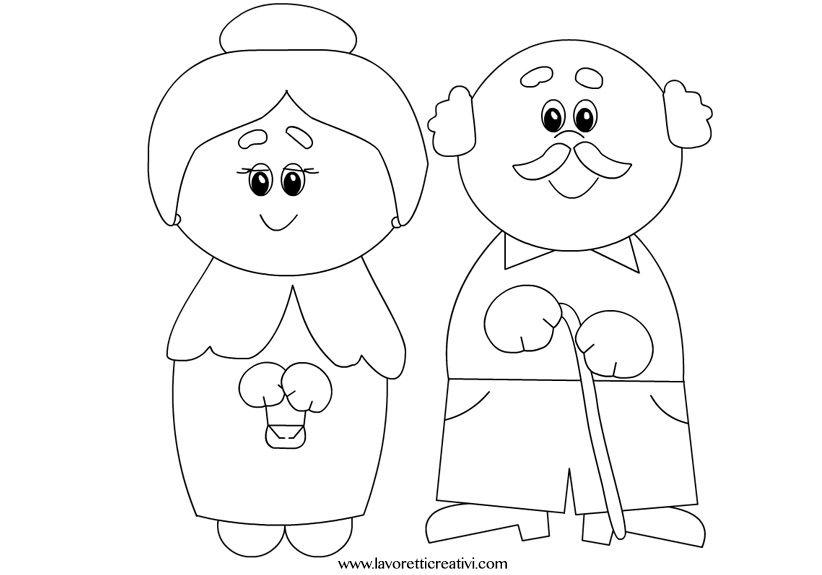 Sagome Nonni Festa Dei Nonni Nonni Modelli Di Alfabeto