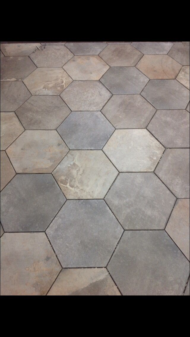Bridgeport winter 17x17 hex www.metrosurfaces.com | Tile ...