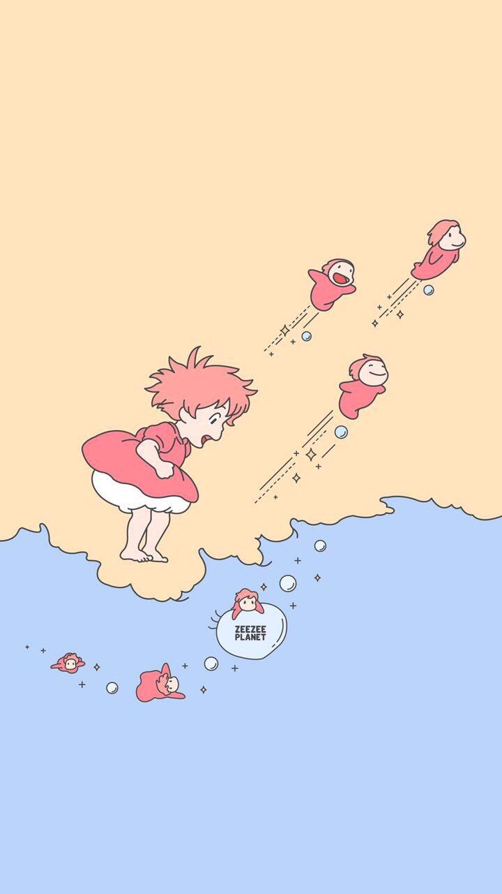 スマホ 壁紙 可愛い Ponyo の画像 投稿者 𝚢𝚑𝚒𝚗𝚐𝚋𝚎𝚊𝚖