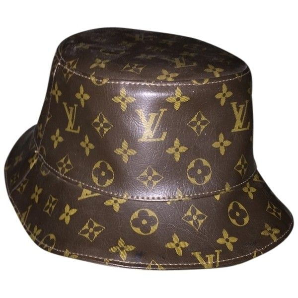 Pre Owned Leather Bucket Hat 228 Liked On Polyvore Featuring Accessories Hats None Louis Vuitton Vin Leather Bucket Hat Louis Vuitton Hat Leather Hats
