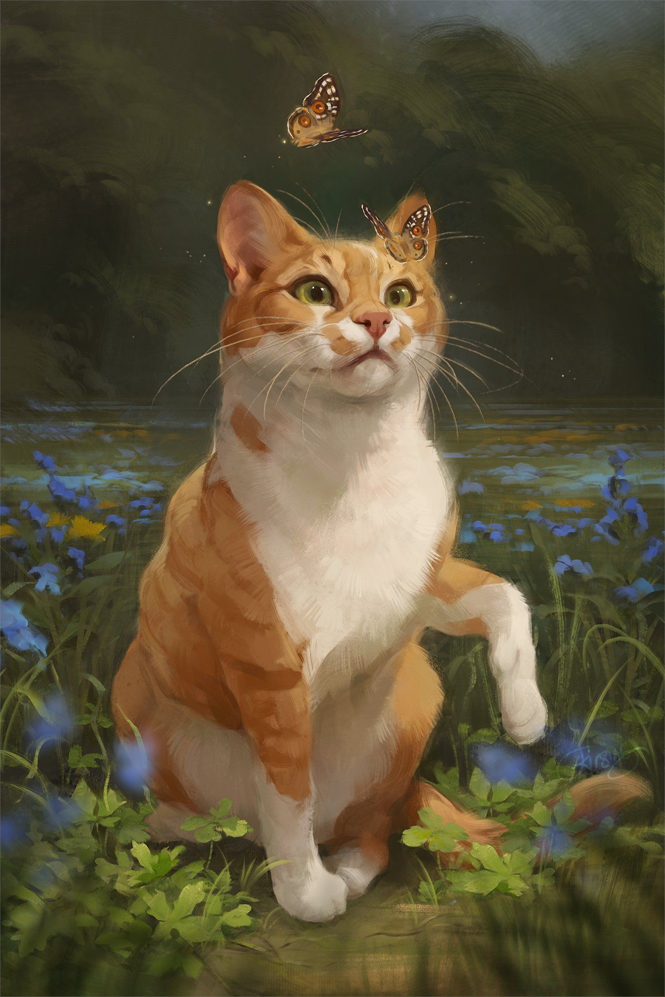 Pin by Shannon O'Brien on Artists in 2020 Cat art, Cute