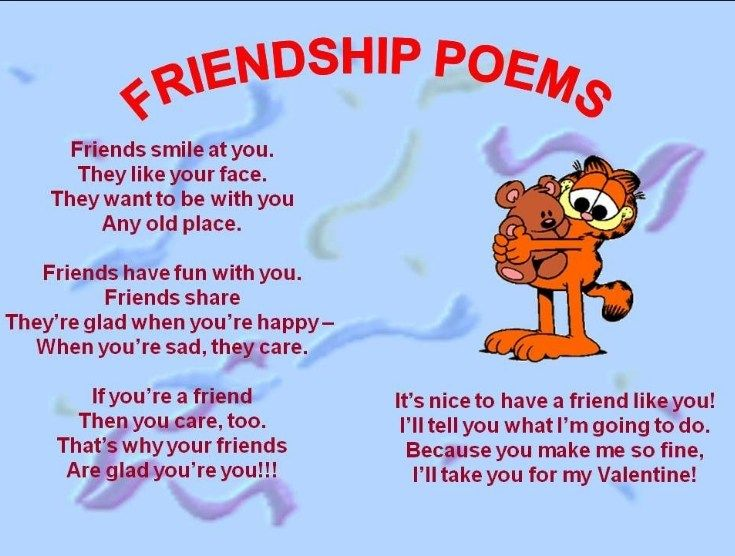 Poem About Friendship With Rhyme | Friendship poems, Kids ...