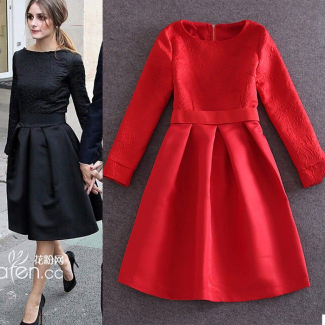 Vintage Women Simple Chiffon Backless Cheap Mermaid: Olivia Palermo Little Black Dress With Long Sleeves