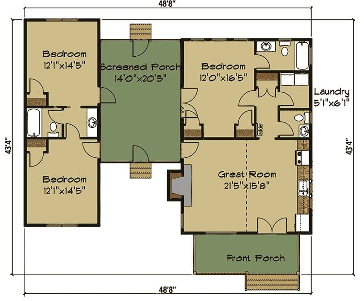 plan 92377mx: 3 bed dog trot house plan with sleeping loft   dog