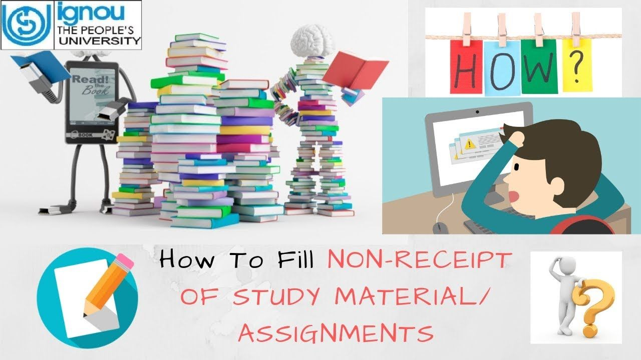 How to fill Non Receipt of Study Material/ Assignments