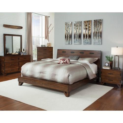 Coaster Furniture Yorkshire Platform Bed, Dark Amber Products in