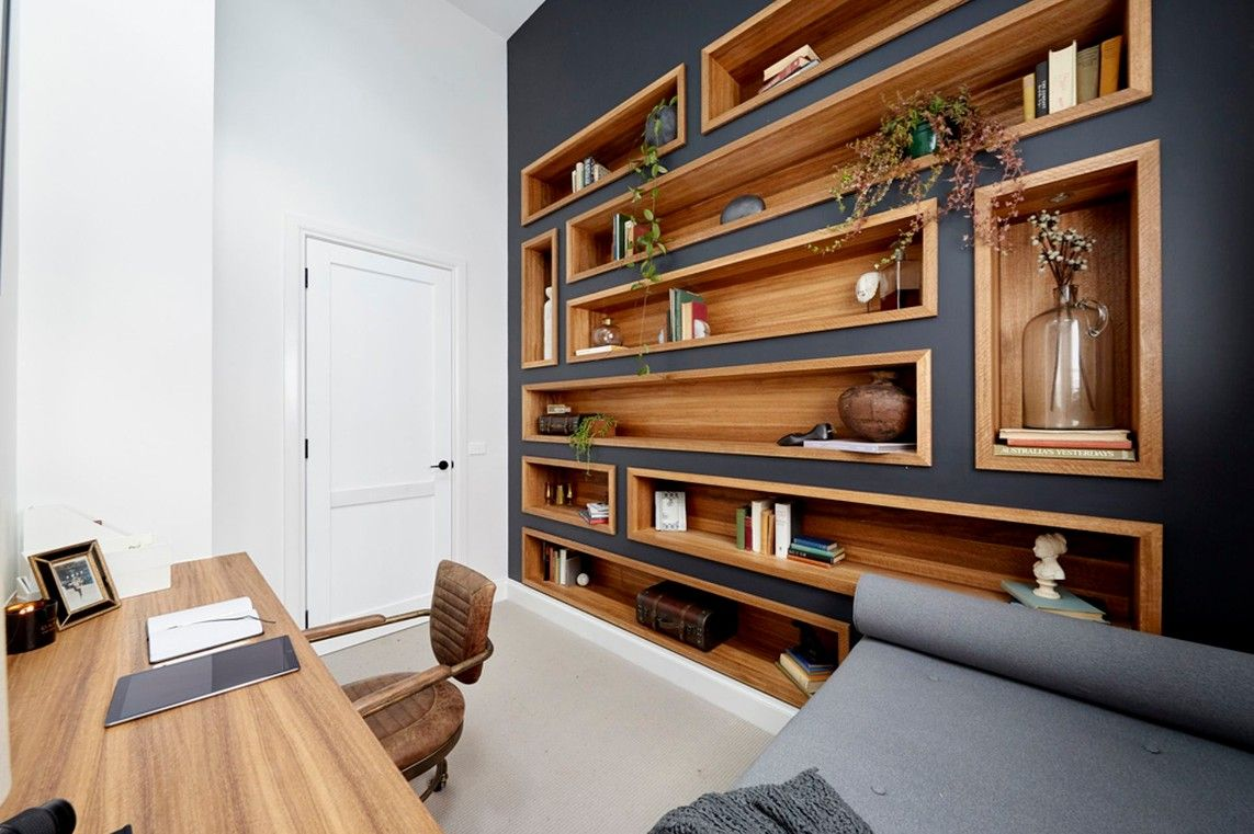 Josh and Elyse's study/reading nook on The Block 2017