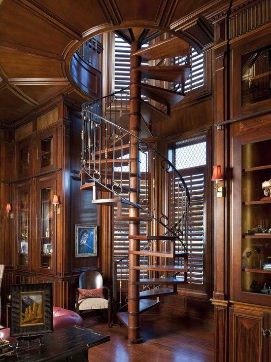 40 Awesome spiral wooden staircase designs images