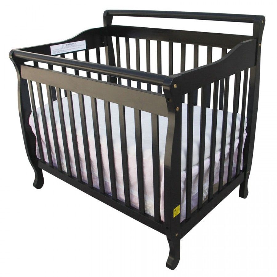 Dream On Me 3 In 1 Portable Convertible Crib In Black   626