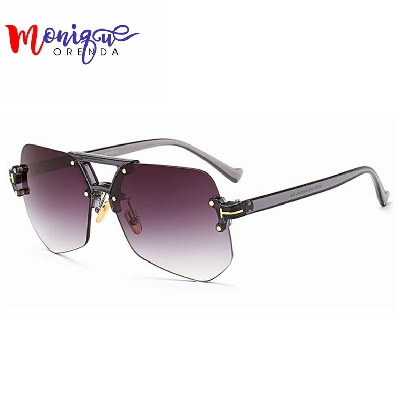 Newest Rimless Frame Sunglasses Women Fashion 2017 Summer Style ...