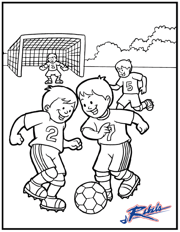 Soccer Kids Color Page