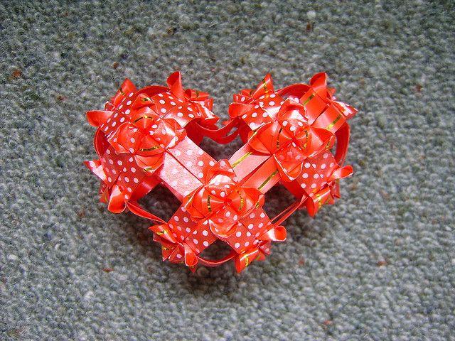ORIGAMI Ribbon Heart , video tutorial